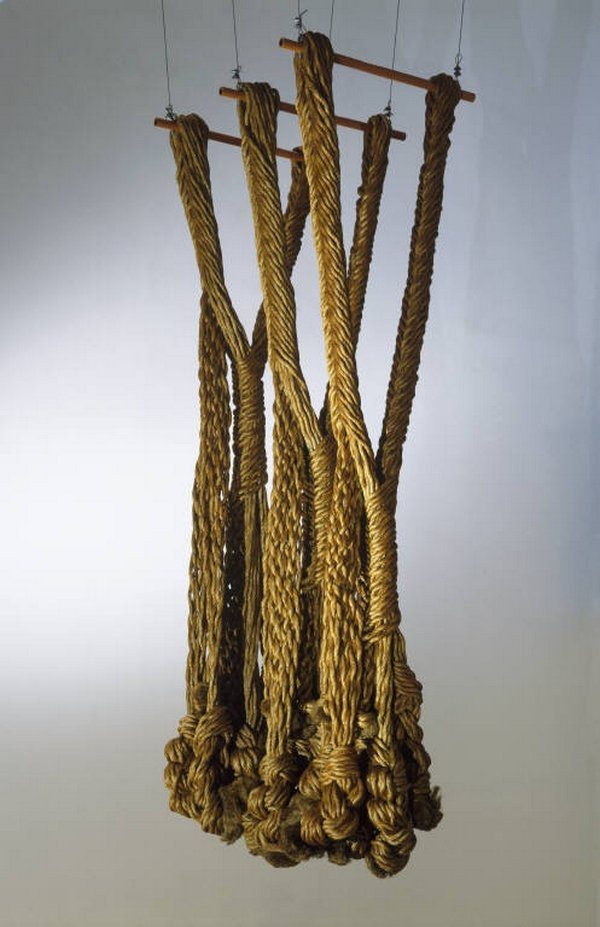 Françoise Grossen. Symbiosis III, 1974 Gift of Beda Zwicker, 1992 Manila rope Courtesy of the Museum of Arts and Design