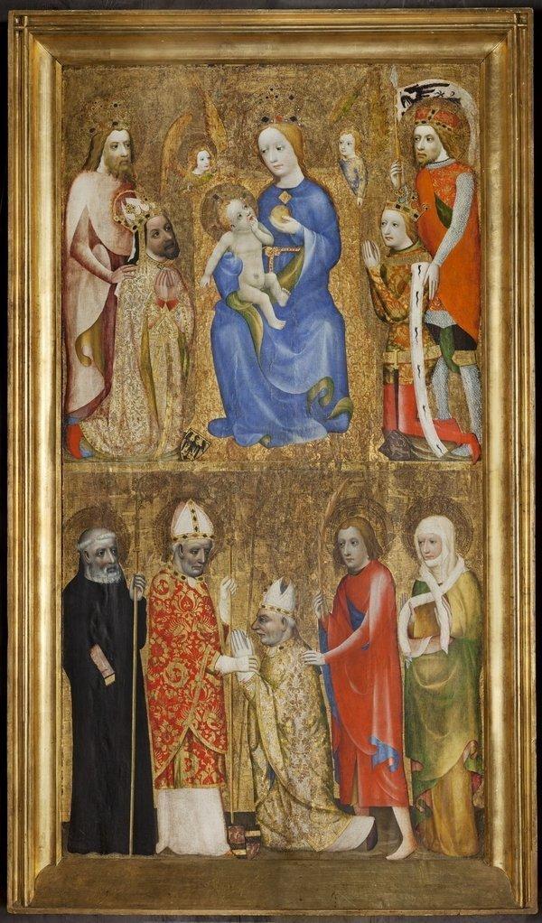Votivtafel mit Darstellung von Kaiser Karl IV., um 1370 Foto freundlicherweise vom Germanischen Nationalmuseum Nürnberg zur Verfügung gestellt.