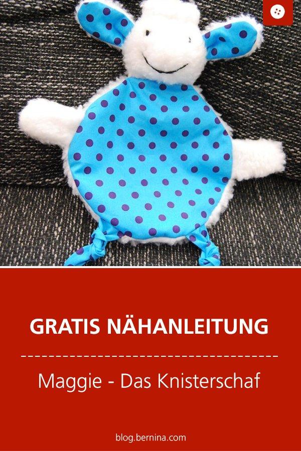 Kostenlose Nähanleitung: Maggie das Knisterschaf Kuscheltier fürs Baby nähen