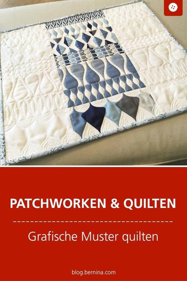 Tipps für Patchworker: Graphische Muster quilten #tutorial #anleitung #patchwork #quilten #quilting #bernina #nähanleitung #diy #tutorial #freebie #freebook #kostenlos