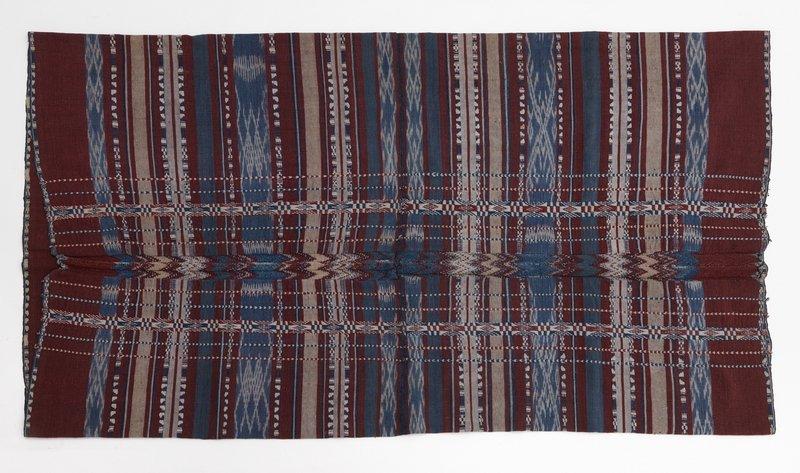Hüfttuch aus Seram, das die Grundlage für Tobias Hagedorns Komposition bildet Baumwolle, gesammelt 1937-1938 Weltkulturen Museum Foto: Wolfgang Günzel, 2012