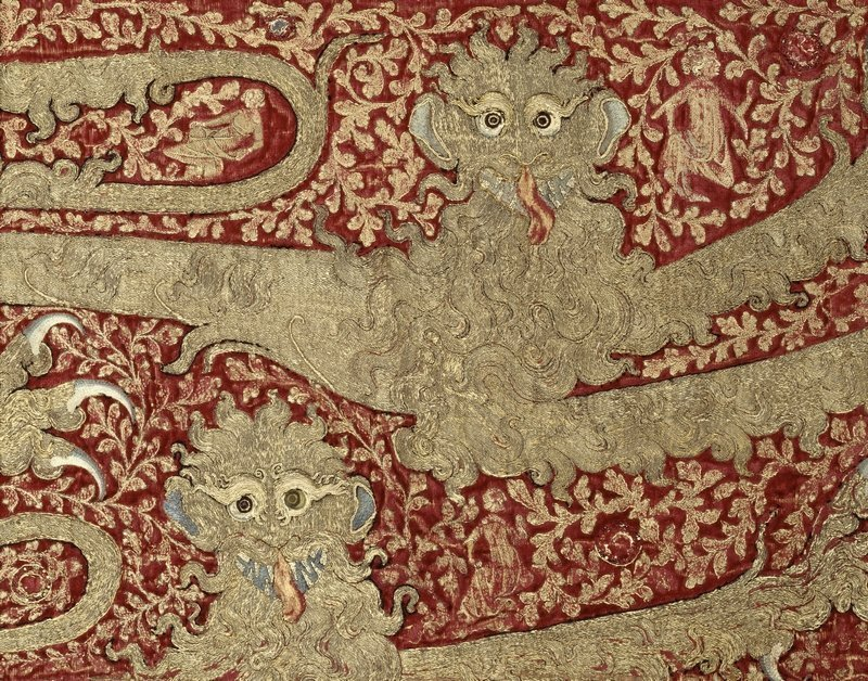 Fragment einer Pferdedecke, wahrscheinlich für den Hof von Edward III (Detail) 1330-40 Foto © RMN-Grand Palais (Musée de Cluny – Musée National du Moyen Âge) / Franck Raux Foto freundlicherweise vom Museum zur Verfügung gestellt