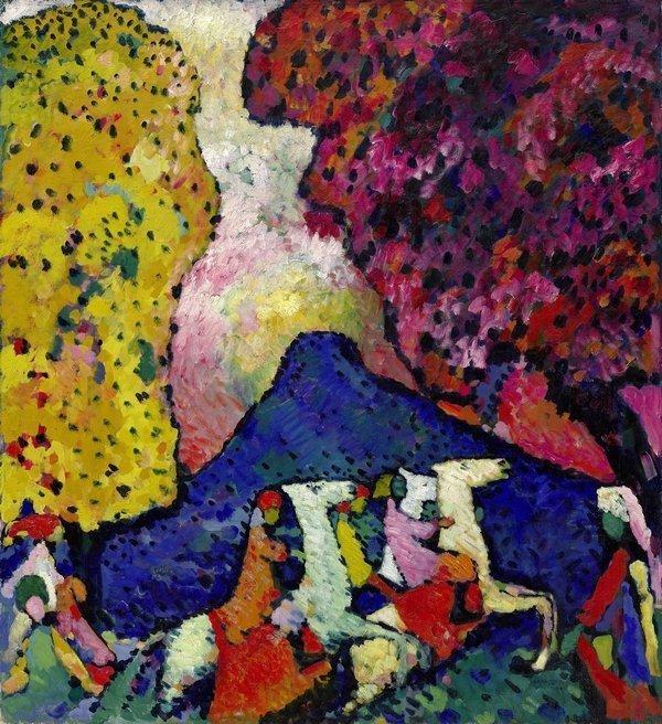 Wassily Kandinsky Der blaue Berg, 1908/09 Öl auf Leinwand, 106 x 96,6 cm Solomon R. Guggenheim Museum, New York, Solomon R. Guggenheim Founding Collection, Schenkung