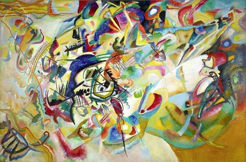 Wassily Kandinsky Komposition VII, 1913 Öl auf Leinwand, 200 x 300 cm Staatliche Tretjakow-Galerie, Moskau © Galerie nationale Tretiakov