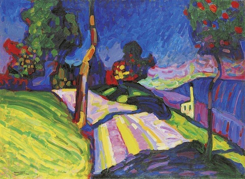 Wassily Kandinsky Murnau – Kohlgruberstrasse, 1908 Öl auf Pappe, 71,5 x 97,5 cm Merzbacher Kunststiftung