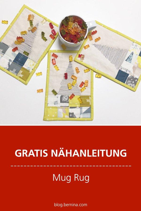Kostenlose Nähanleitung: Mug Rug – Miniquilt für die Tasse