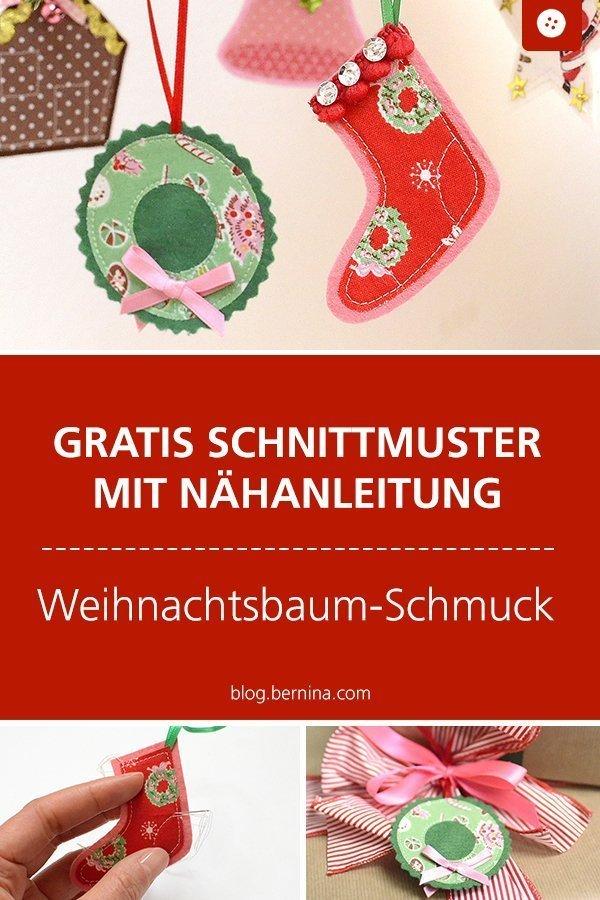 Suche Schöne Weihnachtsdeko.Kostenloses Schnittmuster Mit Nähanleitung Für Schöne Weihnachtsdeko