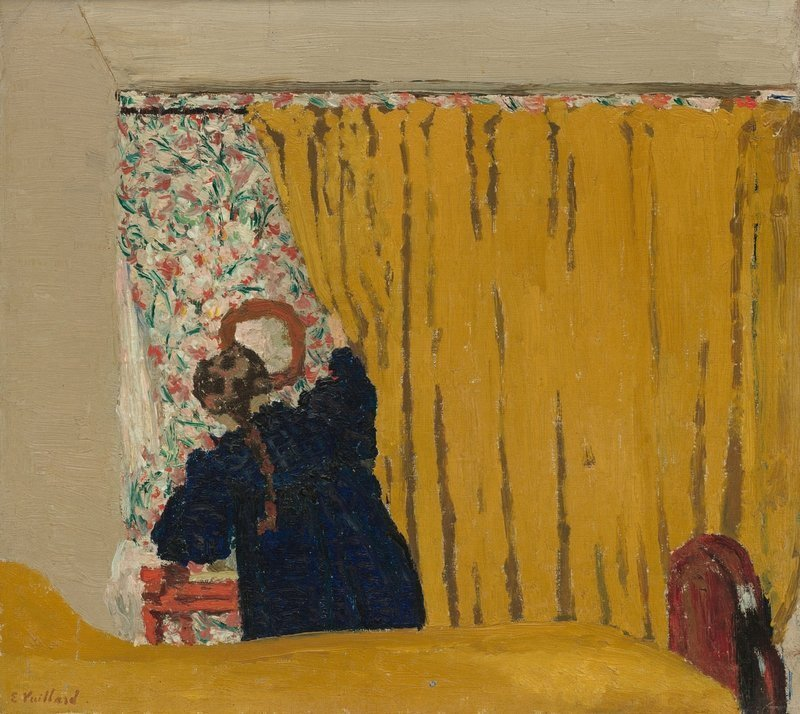 Édouard Vuillard: Le rideau jaune um 1893, Öl auf Leinwand, 34,7 x 38,7 cm Washington, National Gallery of Art, Washington, Alisa Mellon Bruce Collection, 1970.17.95 © Foto Courtesy National Gallery of Art, Washington