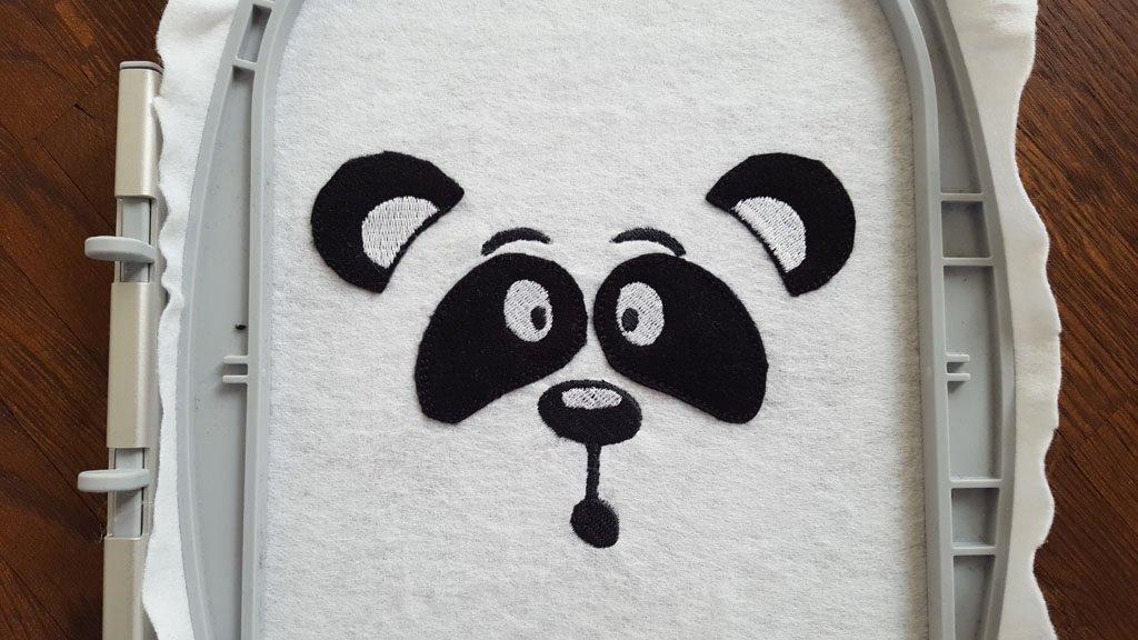 Nun ist es definitiv ein Panda.