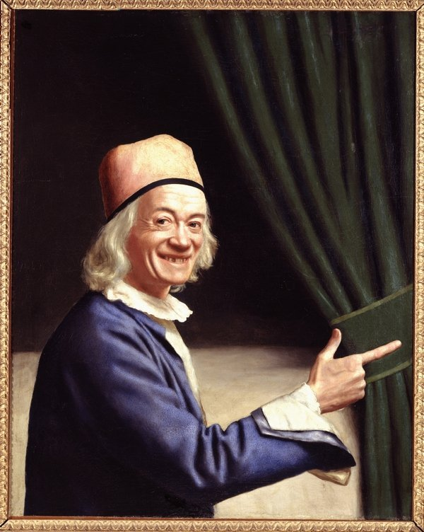 Jean-Étienne Liotard: Liotard riant (Selbstbildnis, lachend) um 1770, Öl auf Leinwand, 84 x 74 cm Collection des Musées d'art et d'histoire de la Ville de Genève © Musée d'art et d'histoire, Genève, inv. n° 1893-0009 Foto: Bettina Jacot-Descombes