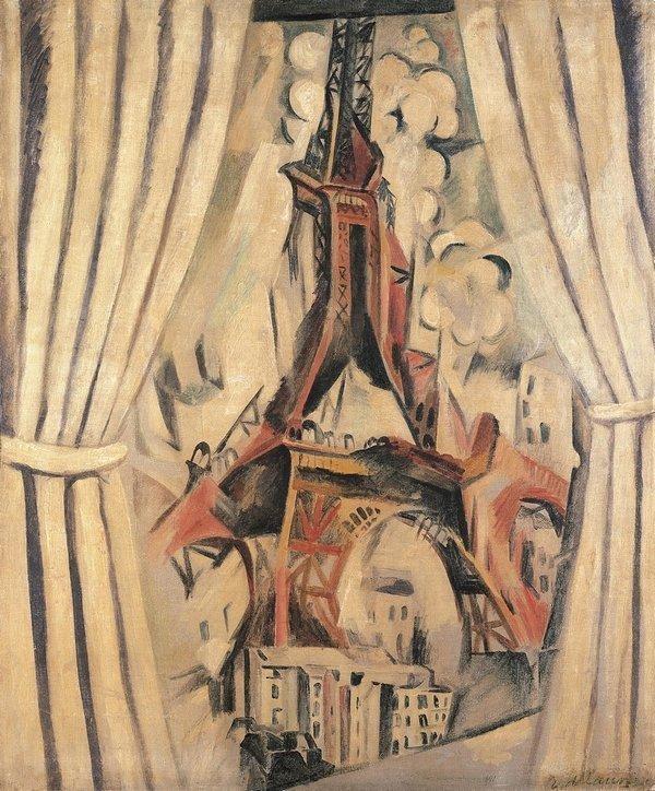 Robert Delaunay: La tour aux rideaux 1910, Öl auf Leinwand, 116 x 97 cm © Kunstsammlung Nordrhein-Westfalen, Düsseldorf Foto: Walter Klein, Düsseldorf