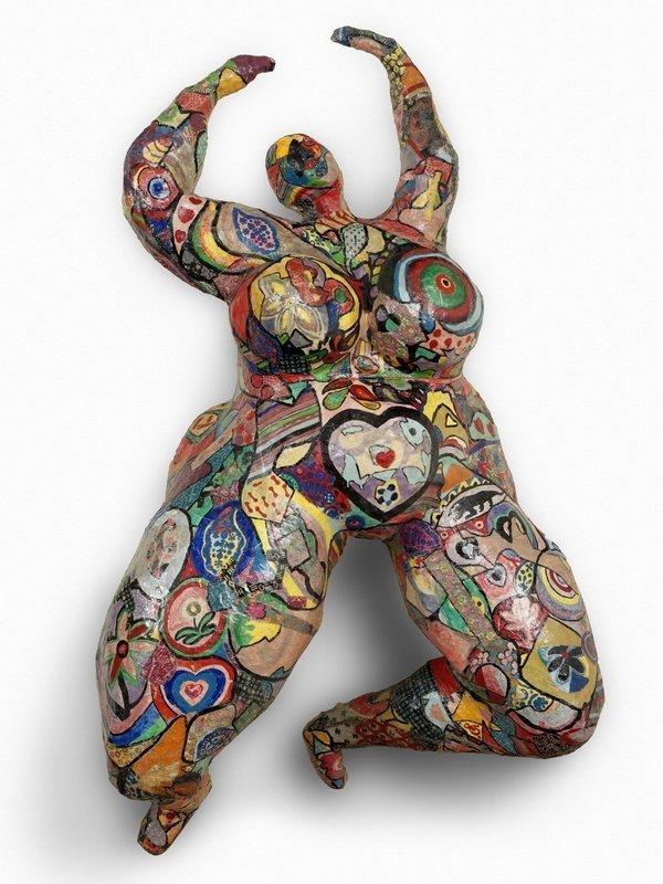 Niki de Saint Phalle: Lili ou Tony 1965 Polyesterharz, bemalt, Stoff, Maschendraht und Papier Courtesy Galerie GP & N Vallois, Paris Foto: Aurélien Mole © 2016 Niki Charitable Art Foundation. All rights reserved.