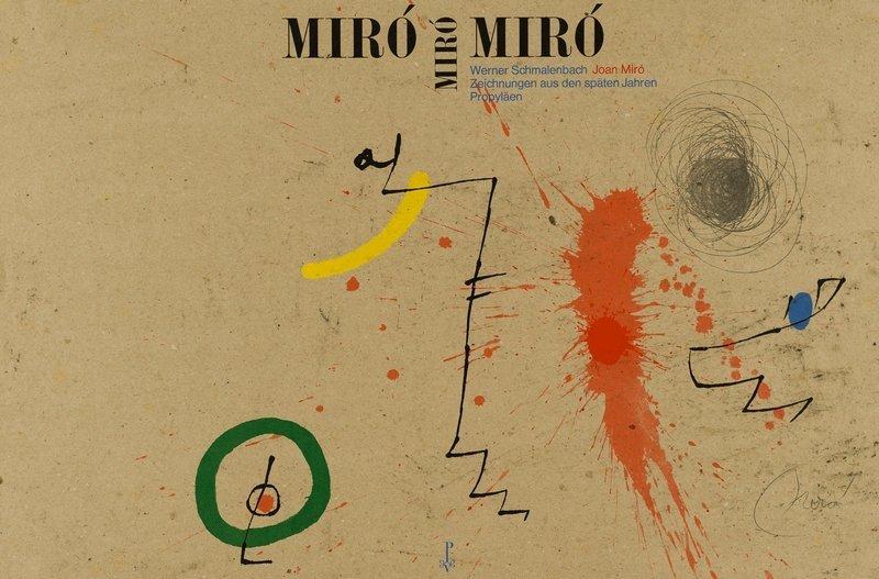 """Umschlag von Kurt Weidemann """"Joan Miró – Zeichnungen aus den späten Jahren"""" Werner Schmalenbach © Propyläen Verlag"""