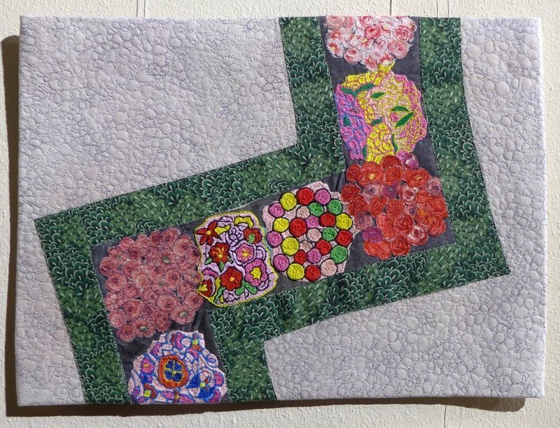 Liselotte Sohr (D)/Anaita (Afghanistan): Detail of Broderie Pattern Ausstellung 'Gardens Around the World', EPM 2016 Foto: Gudrun Heinz