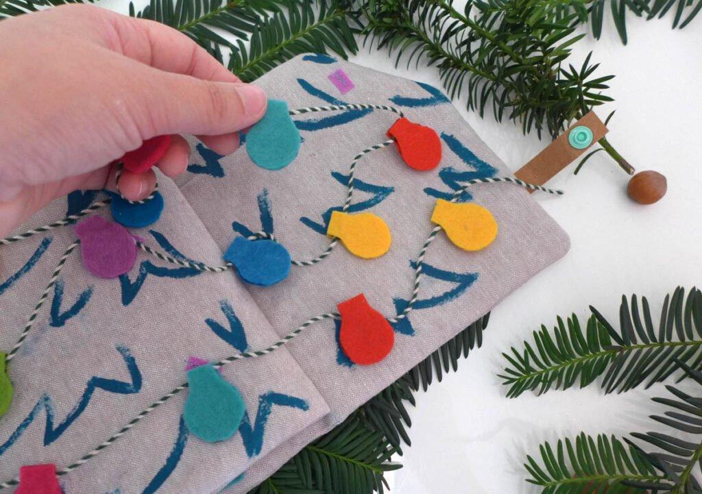 Quietbook Weihnachten Lichterkette how to2