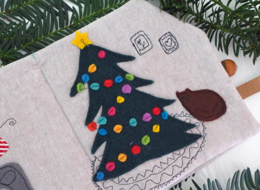 Quietbook Weihnachten Tannenbaum und Katze