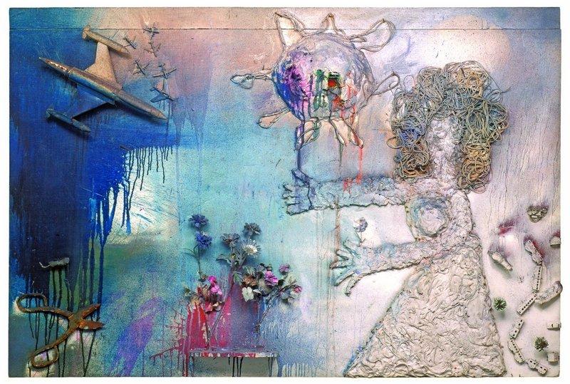Niki de Saint Phalle: Tir avion 1961 Objekte, Gips, Farbe auf Holz Niki Charitable Art Foundation, Santee © 2016 Niki Charitable Art Foundation. All rights reserved.