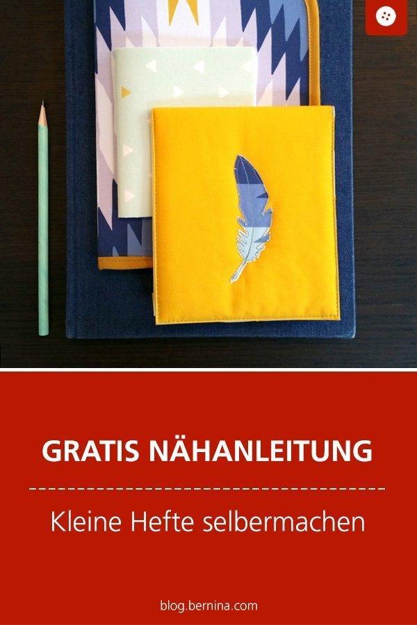 Gratis Anleitung / Tutorial: Kleine Hefte selber machen #anleitung #heft #notizheft #geschenk #notizbuch #nähen #bernina #nähanleitung #diy #tutorial #freebie #freebook #kostenlos