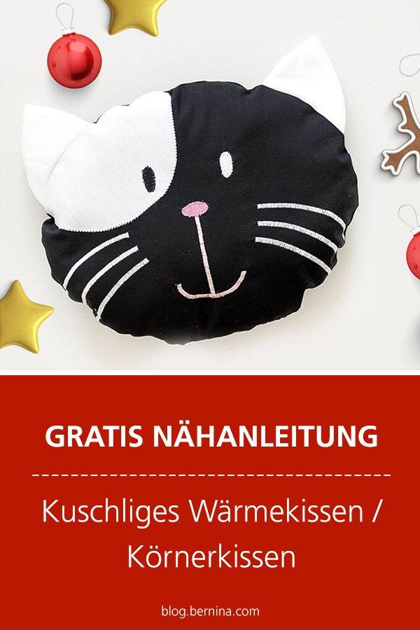 Gratis-Schnittmuster & Nähanleitung: Kuschliges Wärmekissen / Körnerkissen