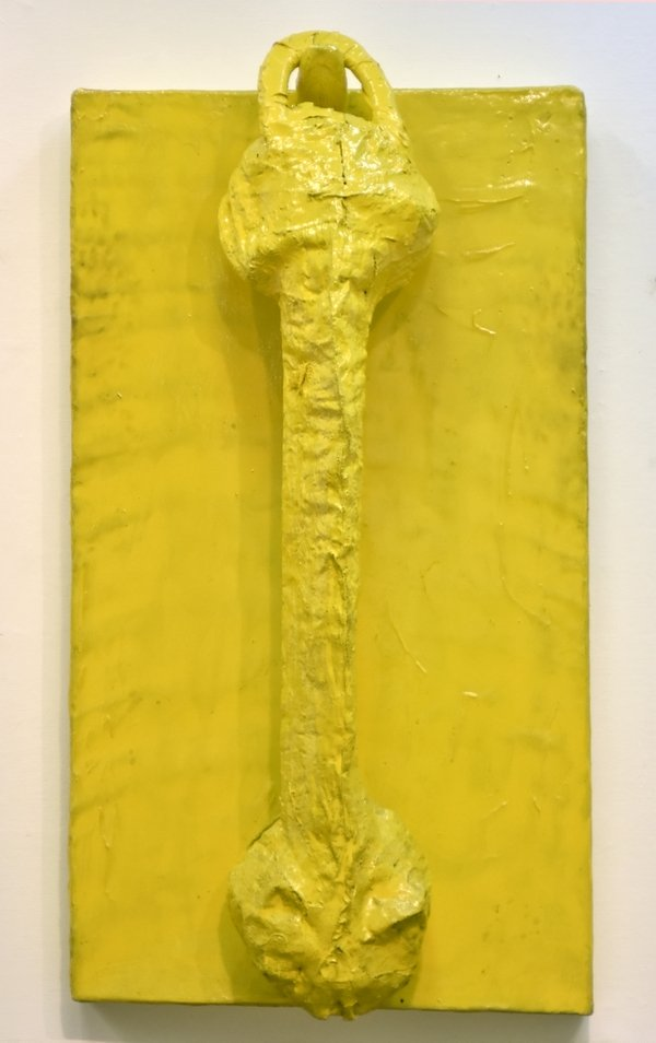 Gyula Konkoly: Phone 1968 Kunstharz, 185x103x15 cm Inv. No: P.97.3. Savaria MHV Museum Szombathely Gallery Foto: Kálmán Garas © VG Bild-Kunst, Bonn 2016