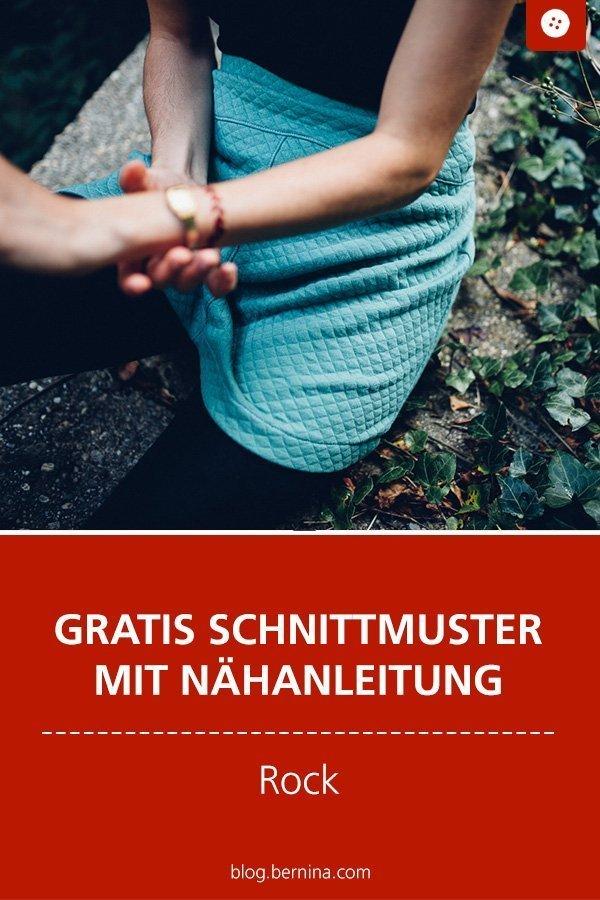 Kostenloses Schnittmuster mit Nähanleitung für einen Rock für Frauen #schnittmuster #nähen #rock #stepp #damen #frauen #winter #herbst #bernina #nähanleitung #diy #tutorial #freebie #freebook #kostenlos