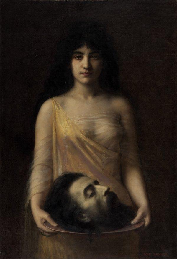 Jean Benner (1836–1906): Salome um 1899 Öl auf Leinwand, 118 x 80 cm Musée des Beaux-Arts de Nantes © Nantes Métropole – Musée d'Arts Foto: C. CLOS
