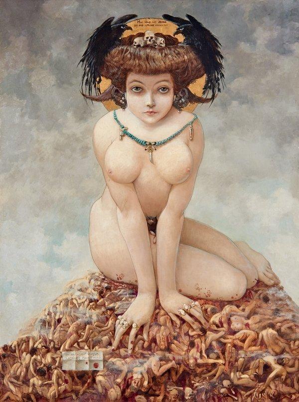 Gustav Adolf Mossa (1883–1971): Sie 1905 Öl auf Leinwand, 80 x 63 cm Musée des Beaux-Arts, Nizza © VG Bild-Kunst, Bonn 2016 Foto: Laurent Thareau