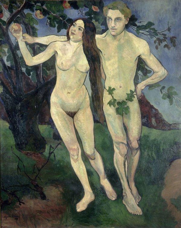 Suzanne Valadon (1865–1938): Adam und Eva (Selbstbildnis mit André Utter) 1909 Öl auf Leinwand, 162 x 131 cm Centre Pompidou, Paris, MNAM/CCI Photo: © bpk / Centre Pompidou, MNAM-CCI, Dist. RMN-Grand Palais / Jacqueline Hyde