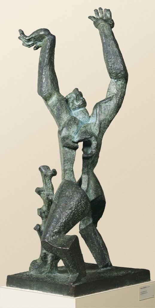Ossip Zadkine: Destroyed City 1947 Bronze, 128 x 57,5, 5 x 56,5 cm Royal Museums of Fine Arts of Belgium, Brussels. Foto: J. Geleyns © VG Bild-Kunst, Bonn 2016