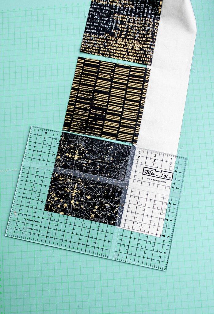 Charm squares, Bernina , Zen Chic quilt
