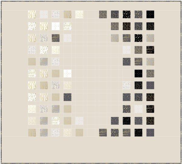 Color Chart, free pattern, Luster Stoffe, Zen Chic, Bernina