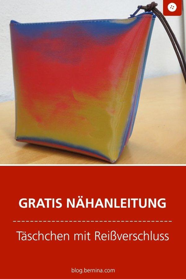 Kostenlose Nähanleitung: Tasche mit Reißverschluss #nähen #nähanleitung #nähenmachtglücklich #kosmetiktasche #bernina #diy #tutorial #freebie #freebook #kostenlos