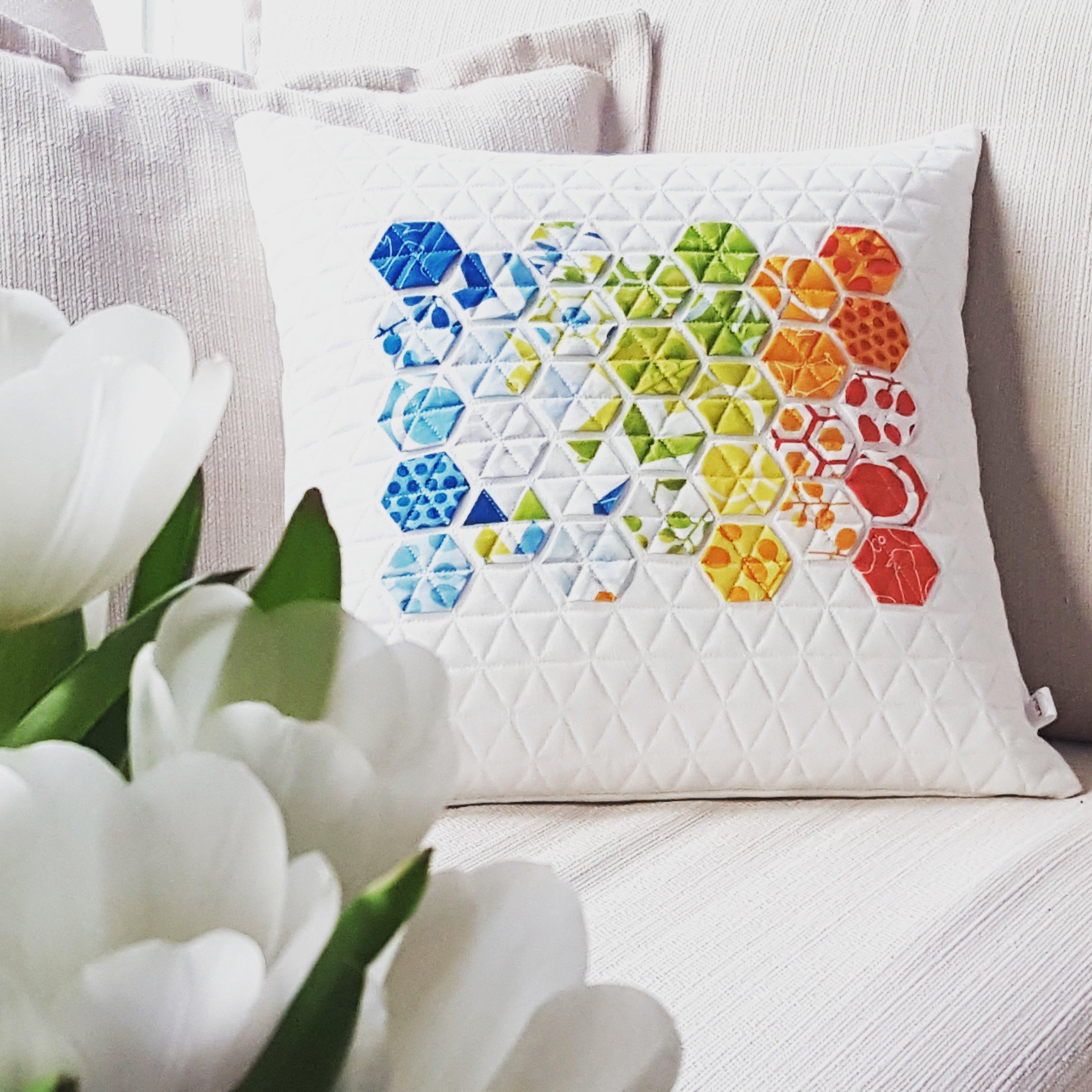 Modernes Hexagon Kissen - Technick English Paper Piecing