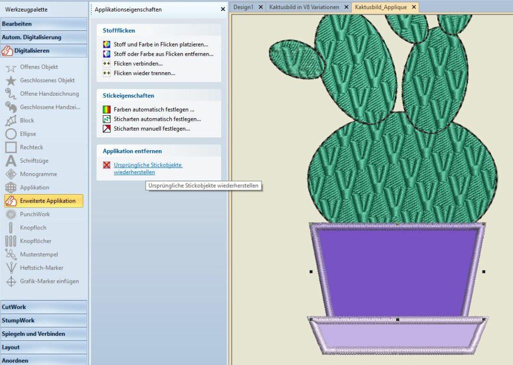 Kaktus 1 Blumentop zurückwandeln