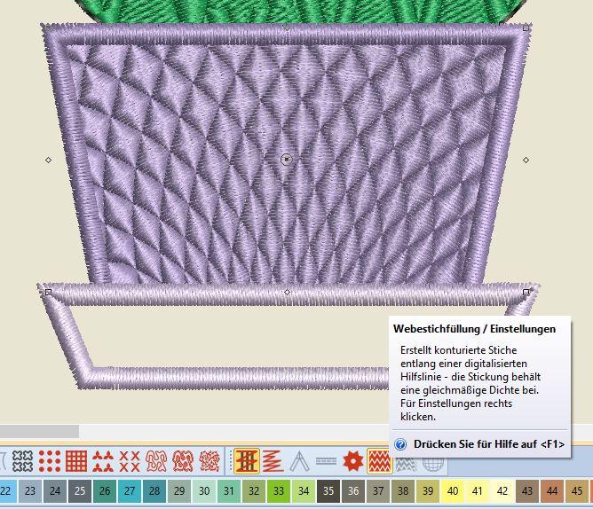 Kaktus 1 Topfeinstellung Webstich Füllung