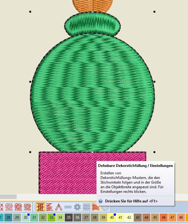Kaktus 3 Dehnbare Dekorstichfüllung