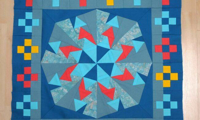 Quilt Medaillion mit Border1 - Bild 1