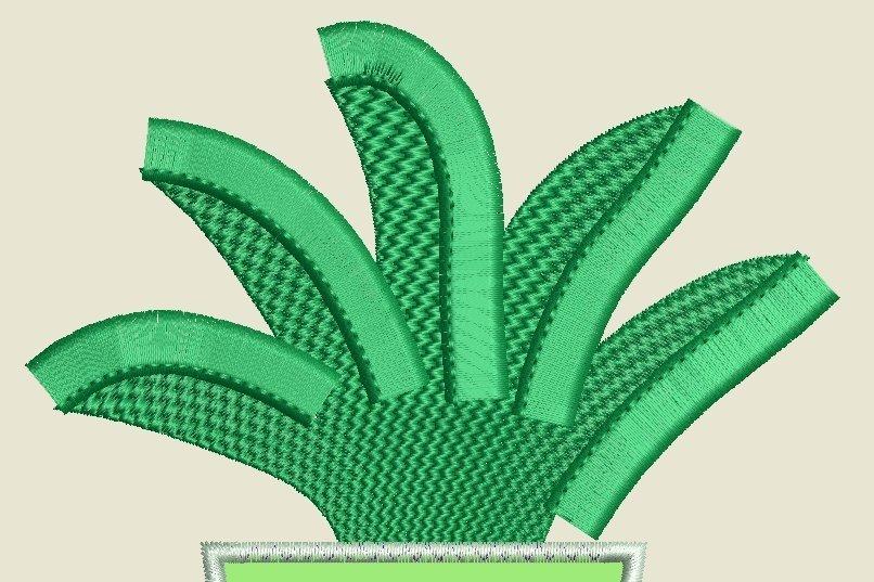 Kaktus 5 Webstichfüllung