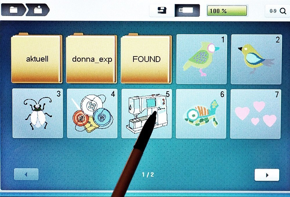 BERNINA 700 - Stickmuster kombinieren und Farbwechsel reduzieren ...