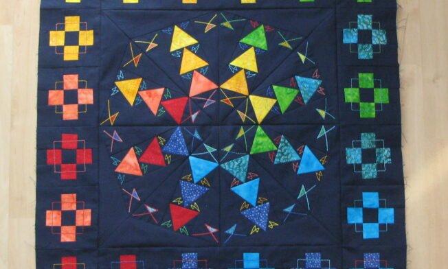 Quilt Medaillion mit Batik - Border1
