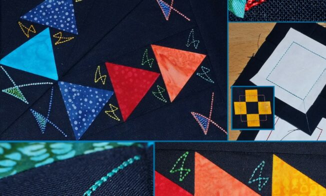 Quilt Medaillion mit Batik - Border1 - Details
