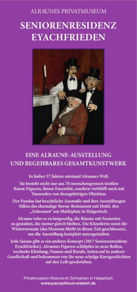 Flyer zur Ausstellung 'Seniorenresidenz Eyachfrieden' mit freundlicher Erlaubnis von Hans Siebert