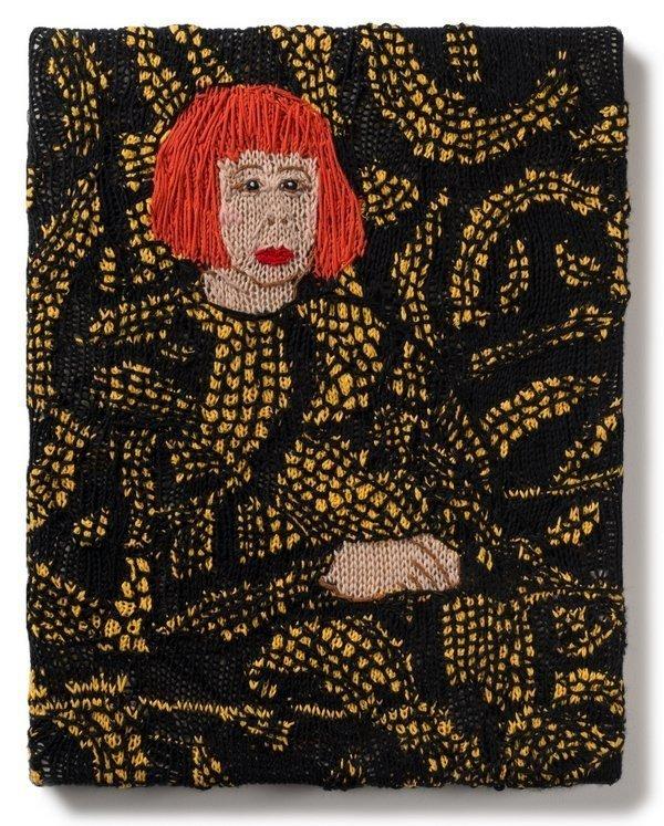 Kate Just (Australien): Feminist Fan: Yayoi Kusama 2016, Wolle 60 x 40 cm Foto: © Kate Just freundlicherweise vom Museum zur Verfügung gestellt