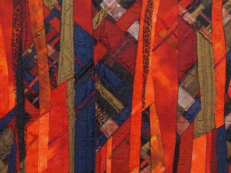 Jang Hungsook: Red II, Detail Ausstellung von Südkorea