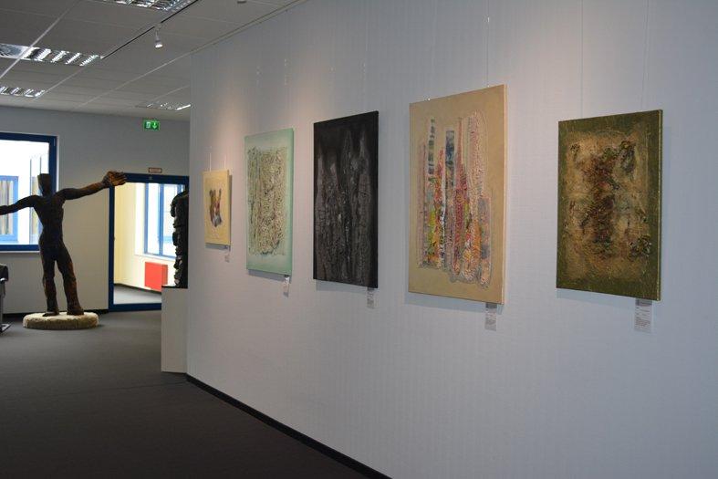 Anke Pradel-Schönknechts Ausstellung 'Bilder 3D' bei Carqueville Foto freundlicherweise von der Künstlerin zur Verfügung gestellt