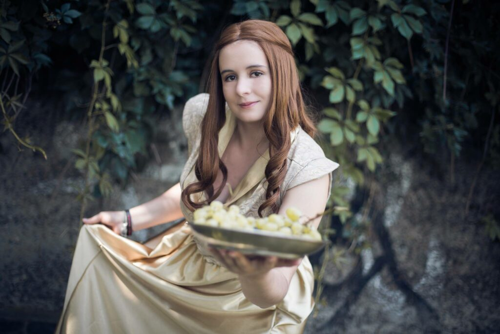 Ramona Wirth im Cosplay von Margaery Tyrell (Game of Thrones)