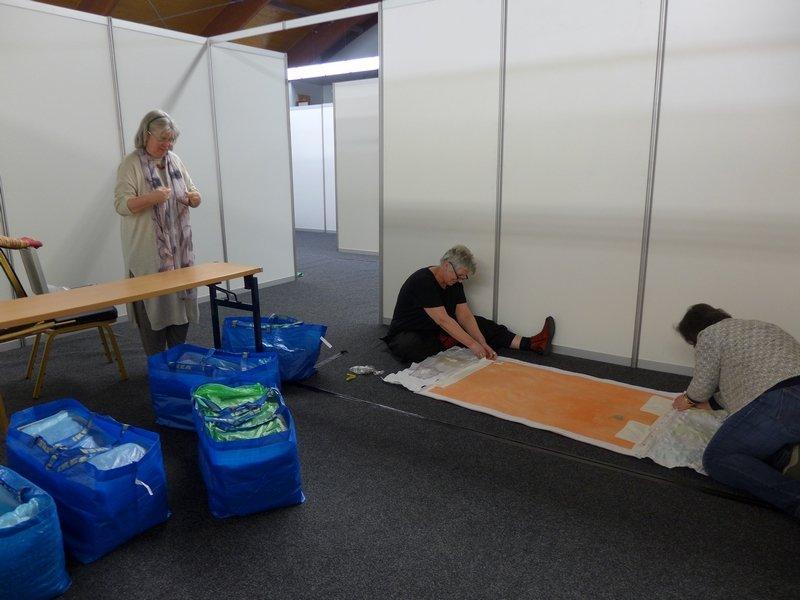 Pia Welsch und ihre Helferinnen sind hier am Werk