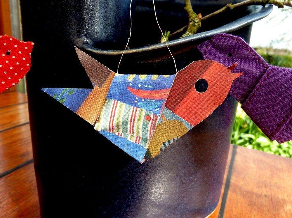 Nähanleitung für einen Vogel aus Stoffstreifen