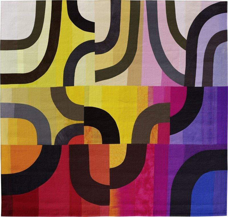 Michèle Samter: Piece by piece Photo Credit Kuhnle + Knodler Fotodesign Germany Ausstellung 'Color Improvisations 2' Foto freundlicherweise vom Museum zur Verfügung gestellt
