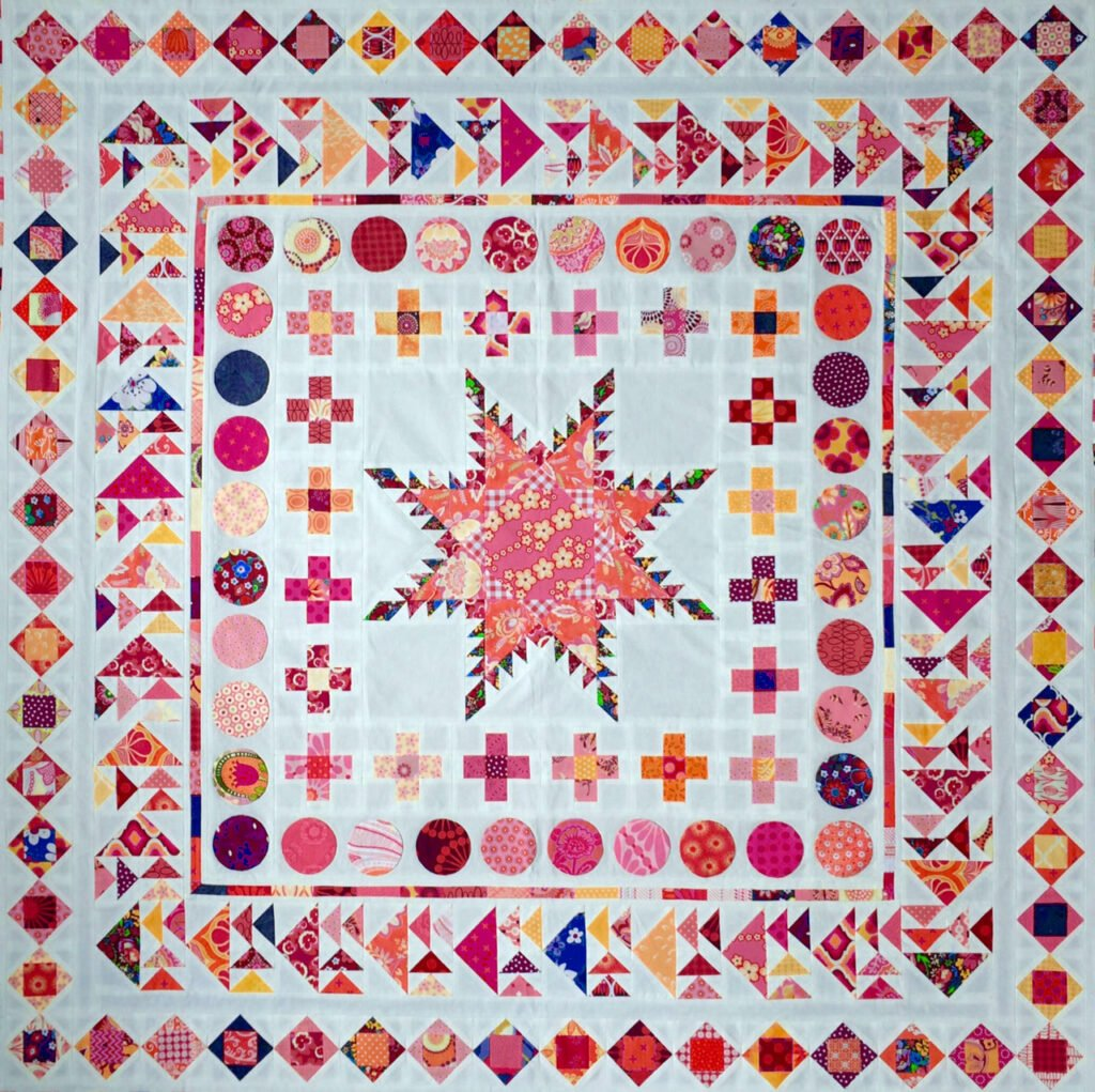 BERNINA Medaillon QAL - Square in a Square (1)